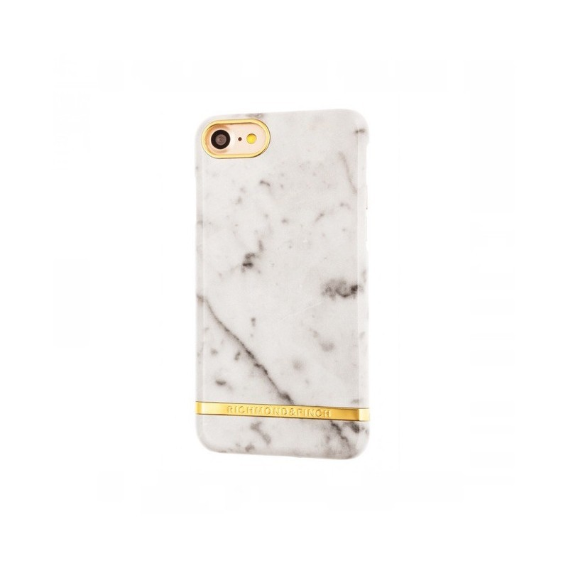 Richmond and Finch Marble Glossy iPhone 7 weiß