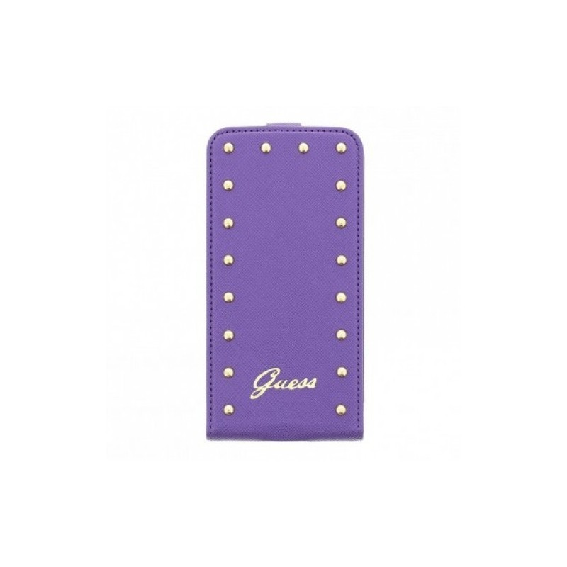 Studded Galaxy S5 Flip Case Purple