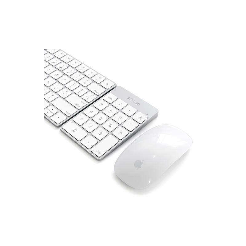 Satechi Slim wiederaufladbare Bluetooth-Tastatur (Nummernblock) Aluminium Silber