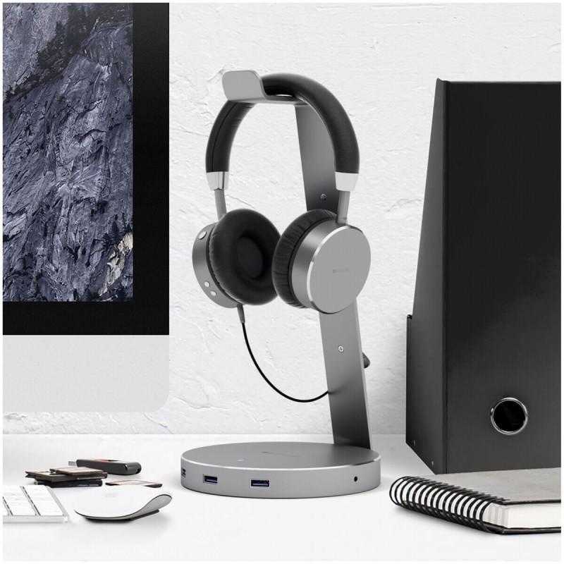 Satechi Aluminum Headset-Halterung Space Gray