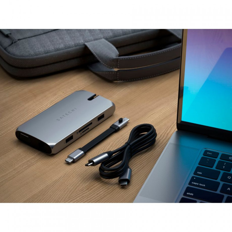 Satechi USB-C On-the-Go Multiport Adapter spacegrau