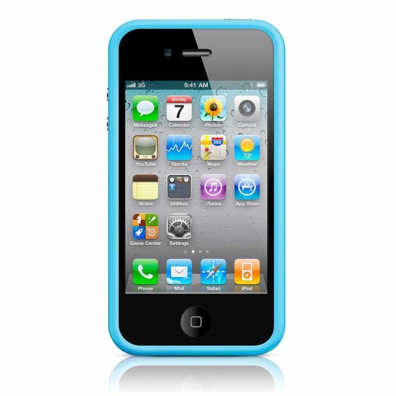 iPhone 4(S) Bumper blau
