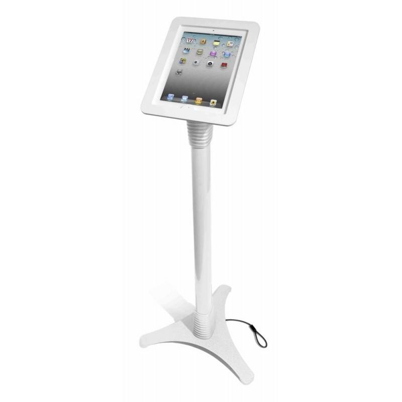 MacLocks höhenverstellbarer Tabletständer weiß iPad mit zugänglichem Home-Button