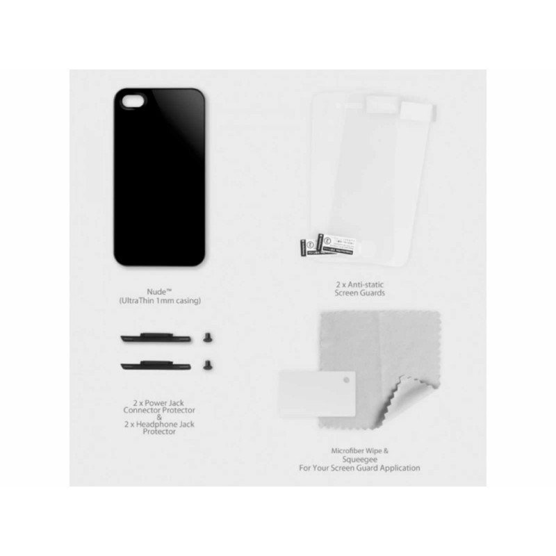 SwitchEasy Nude Hard Case Schwarz iPhone 4(S)