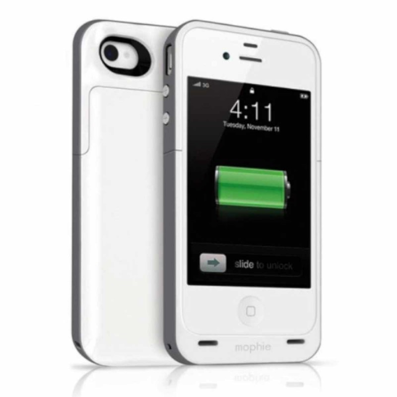 Mophie Juice Pack Plus iPhone 4(S) weiß