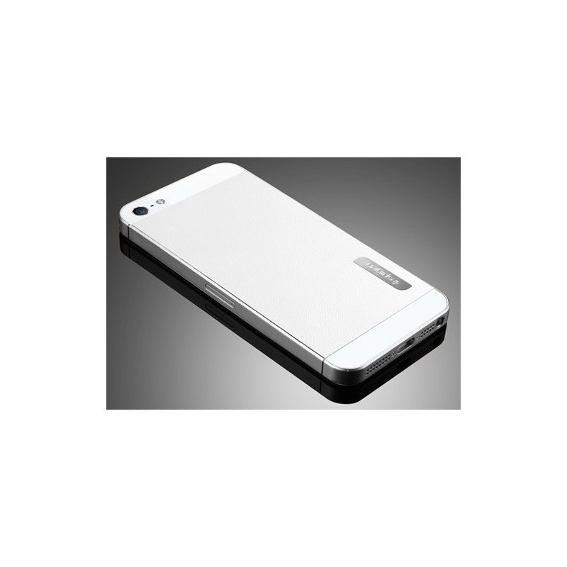 Spigen Skin Guard Leather iPhone 5(S) weiß