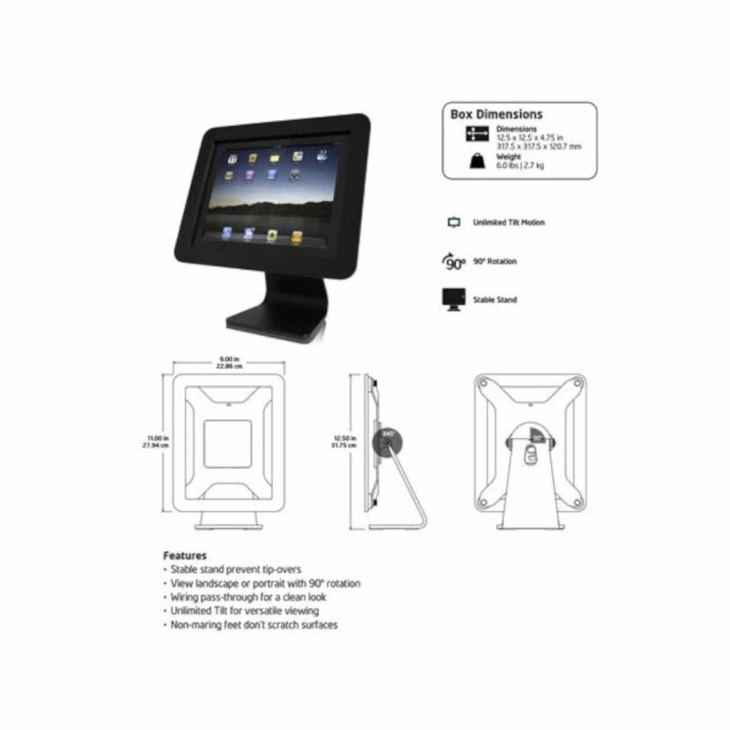 Maclocks iPad 2/3/4/Air enclosure kiosk weiß