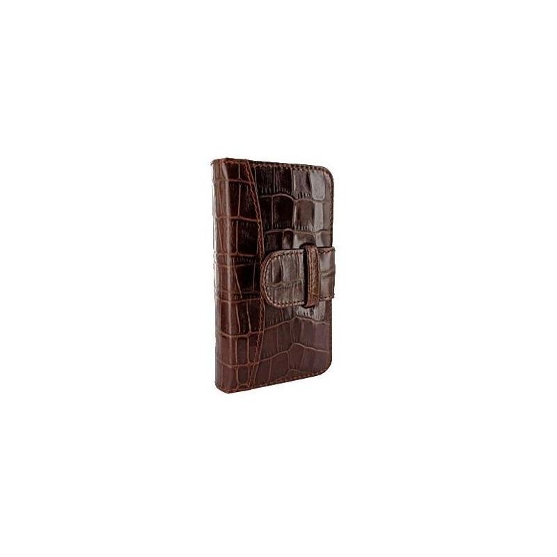 Piel Frama Wallet iPhone 5(S)/SE Crocodile braun