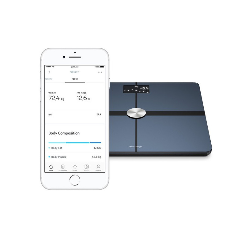 Nokia (Withings) Body Waage WS45 schwarz