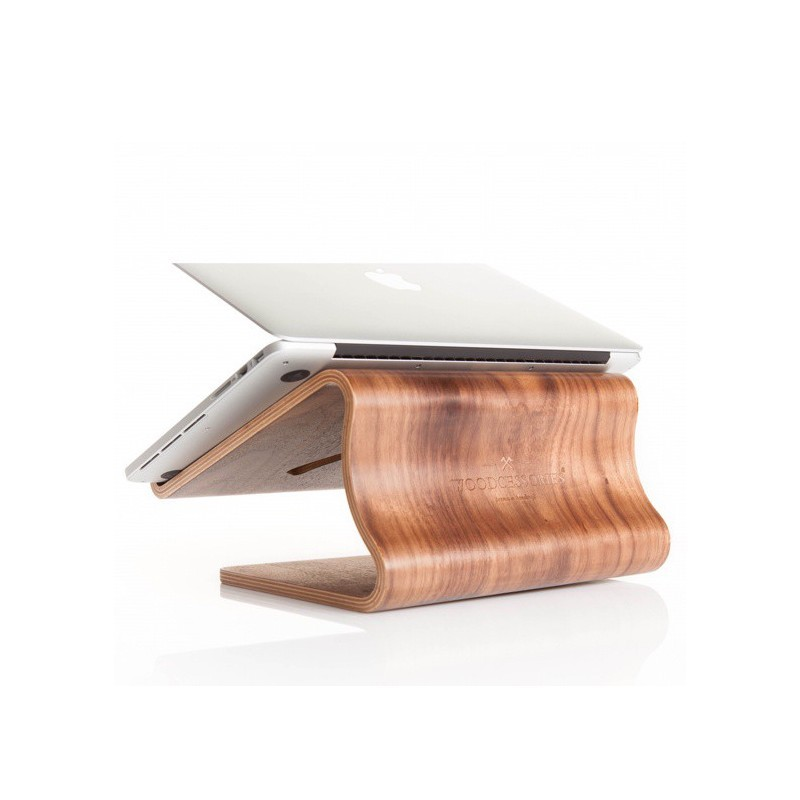 Woodcessories ecolift MacBook stand Walnuss