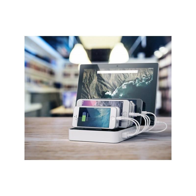 Satechi 7-Port USB Ladestation (2 x Type-C Ports) weiß