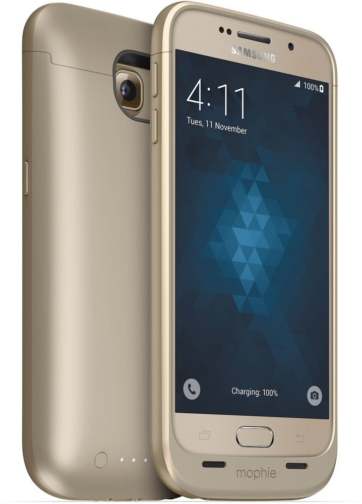 Mophie juice pack Galaxy S6 3300 mAh gold