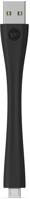 Mophie memory flex Micro USB cable 10 cm schwarz