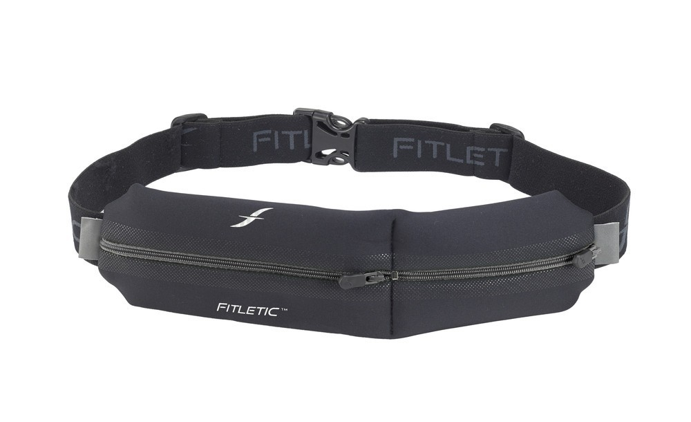 Fitletic Double Pouch Running Belt schwarz