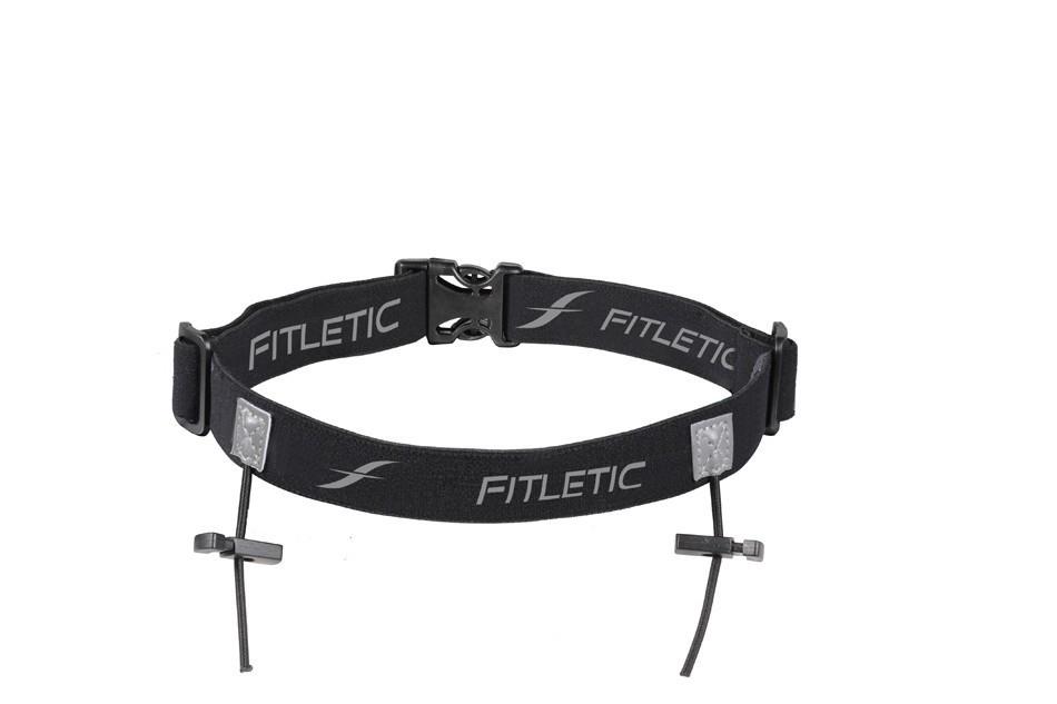Fitletic Startnummernband Belt Schwarz/Grau