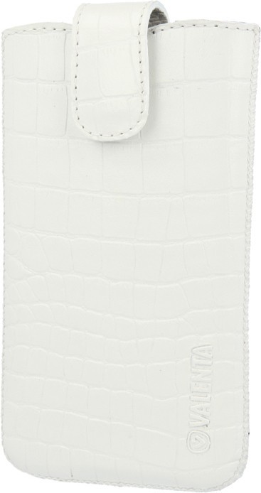 Leather Pocket Lucca Croco White Medium