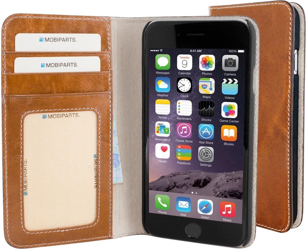 Mobiparts Excellent Wallet Case iPhone 6 / 6S Oaked Cognac