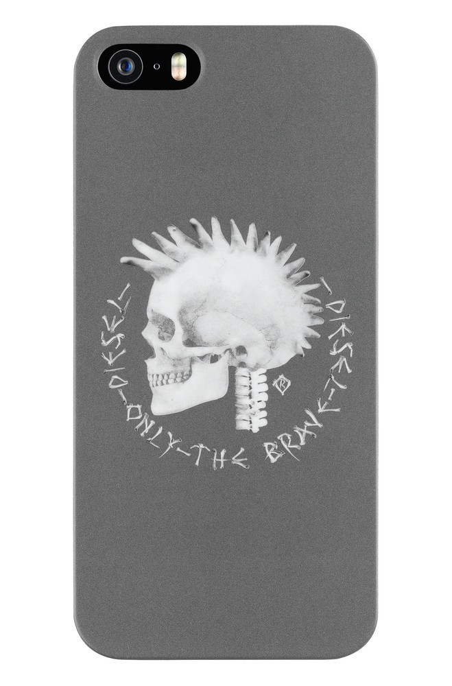 Diesel Pluton Pewter Scull iPhone 5 / 5S Grey