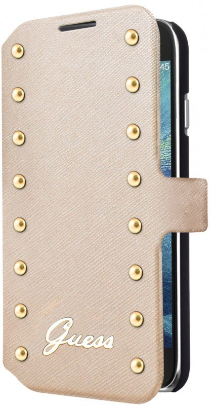 Guess Studded Galaxy S6 Book Case Cream