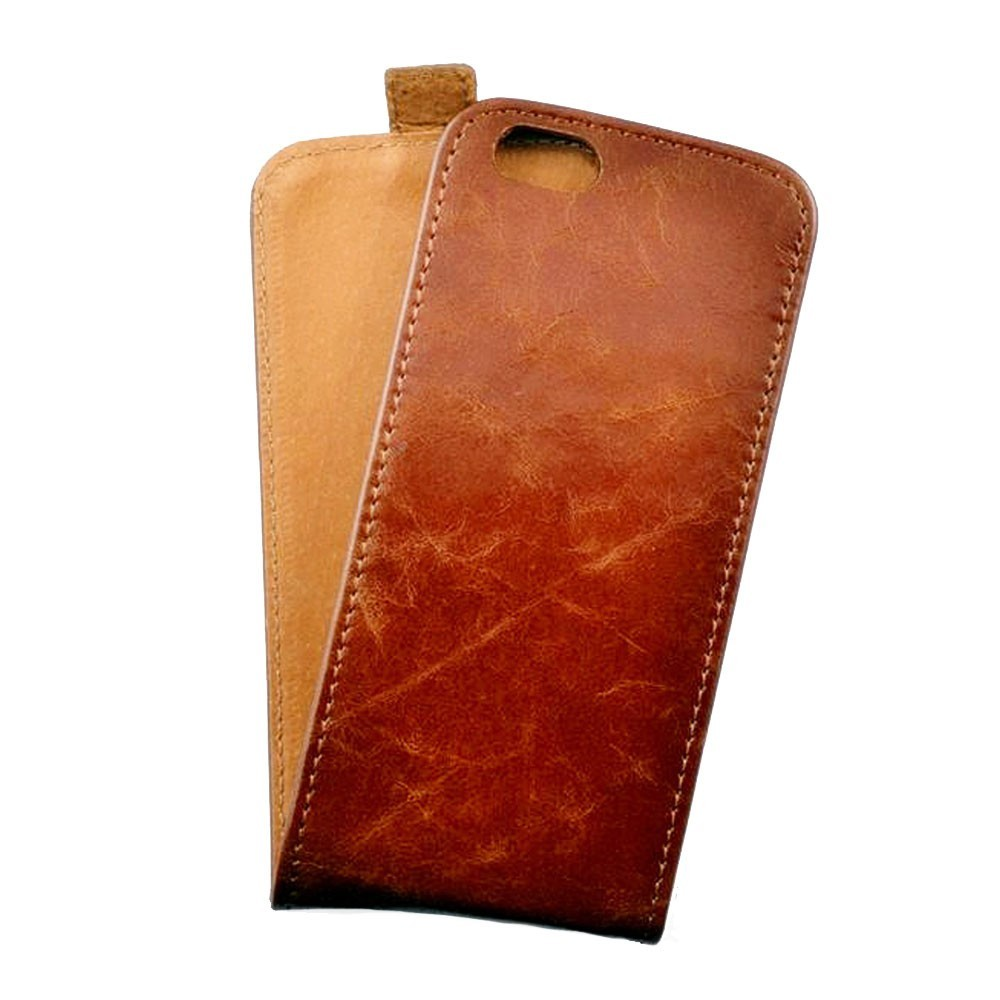 Toscana iPhone 6 / 6S Flip Case Ginger Tan