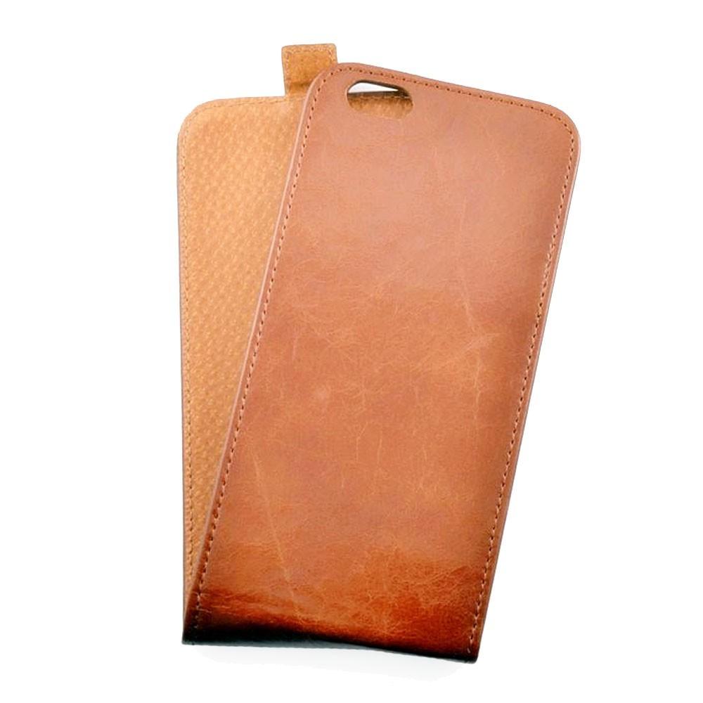 Toscana iPhone 6 Plus / 6S Plus Flip Case Ginger Tan