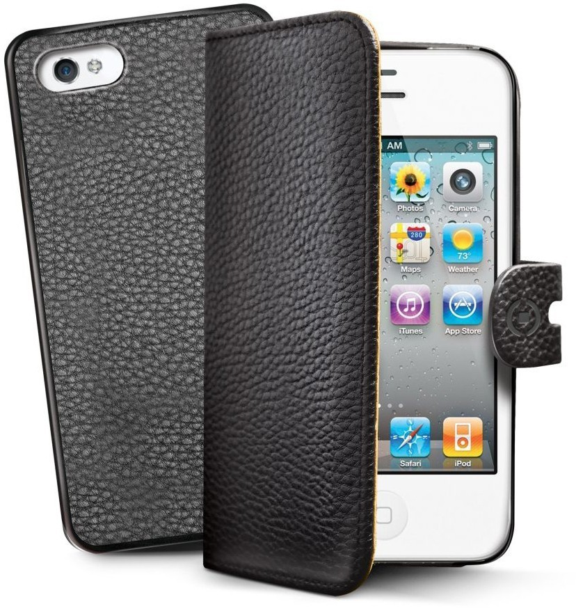 Celly AMBO iPhone 4 / 4S Magnetic Folio case Black