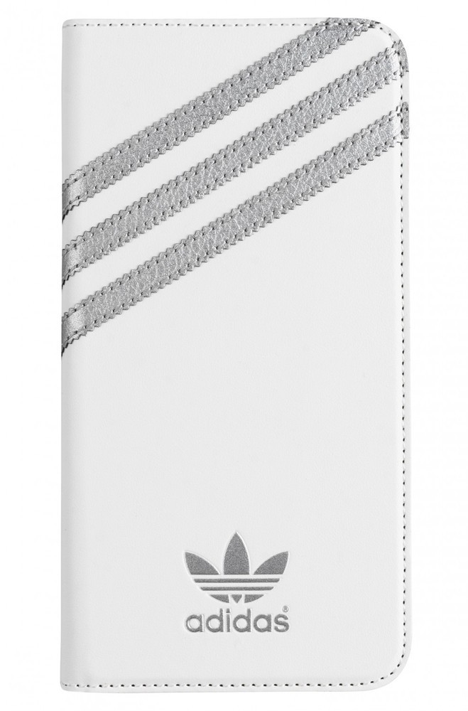 Adidas Booklet Case iPhone 6(S) Plus weiß/silber