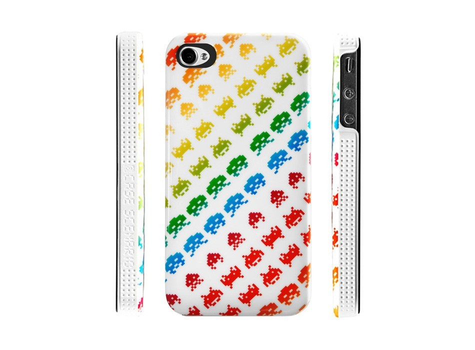 Case Scenario Space Invaders iPhone 4 / 4S Hardcase White & Colour