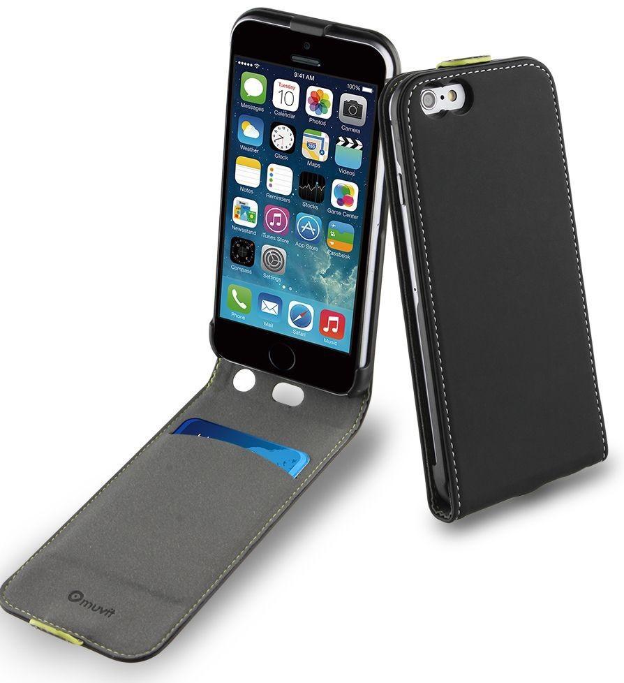 Muvit Slim Hülle iPhone 6 / 6S schwarz / dunkelgrau