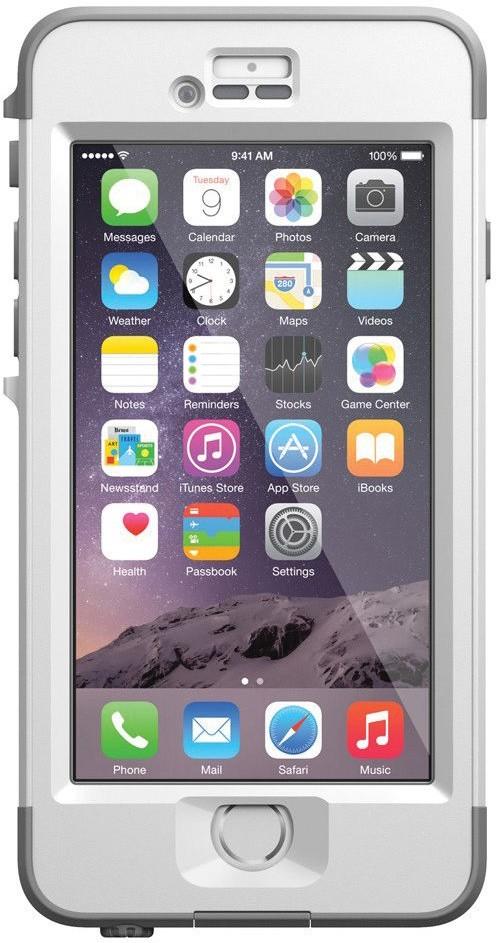 Nüüd Wasserdichte Hülle Avalanche iPhone 6 Plus weiß/grau