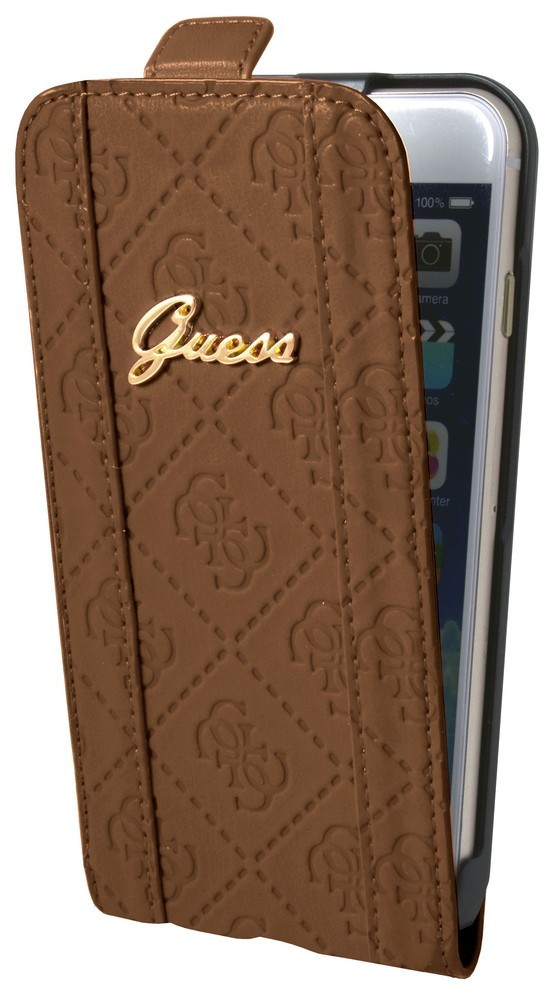 Guess Scarlett iPhone 6 Plus / 6S Plus Flip Case Cognac