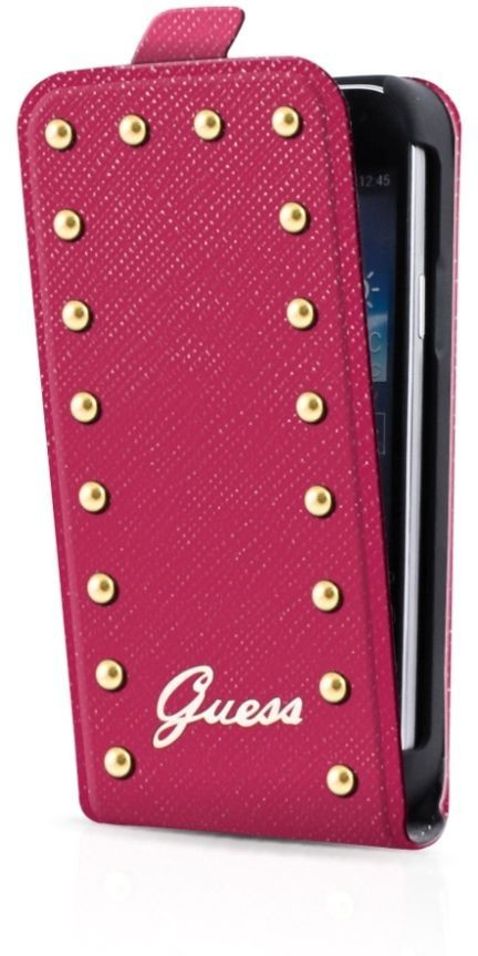 Guess Studded Galaxy S4 Mini Flip Case Pink
