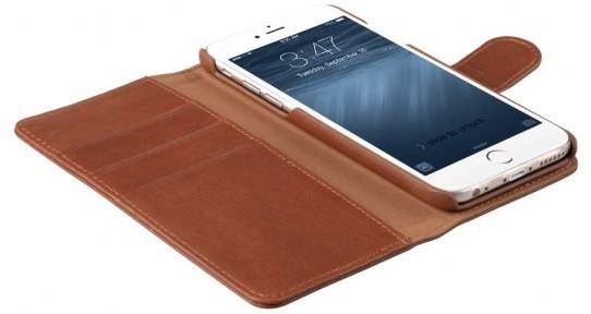 Melkco Alphard iPhone 6 Plus / 6S Plus Book Case Leather Orange Braun