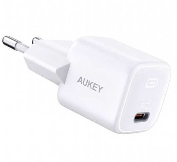 Aukey USB C Power Delivery Mini Charger 20W weiß