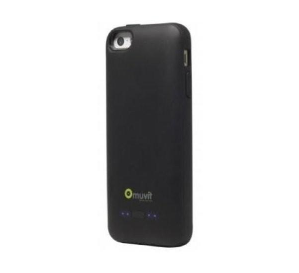 Muvit Power Case iPhone 5(S)/SE schwarz (2000mAh)