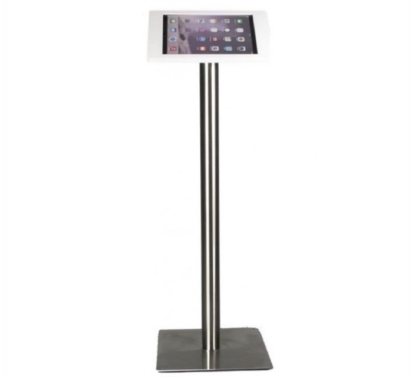 Tablet Bodenständer Fino iPad Pro 12,9 weiß (Edelstahl)