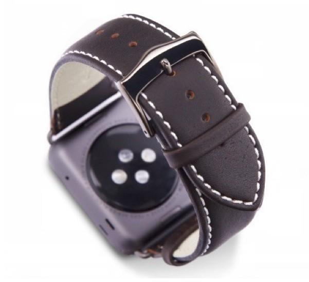 dbramante1928 Kopenhagen Apple Watch Strap 38 / 40 mm grau / dunkelbraun