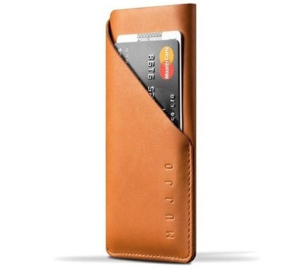 Mujjo Wallet Sleeve Slim Fit Leder iPhone 6(S) Tan