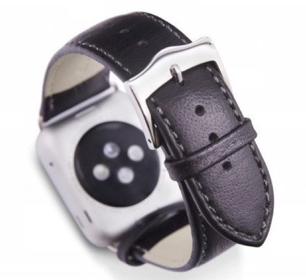 Dbramante1928 Kopenhagen Apple Watch Strap 42 / 44 mm silber/schwarz