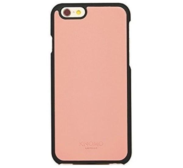 Knomo Leder Snapcase iPhone 6(S) rosa/schwarz