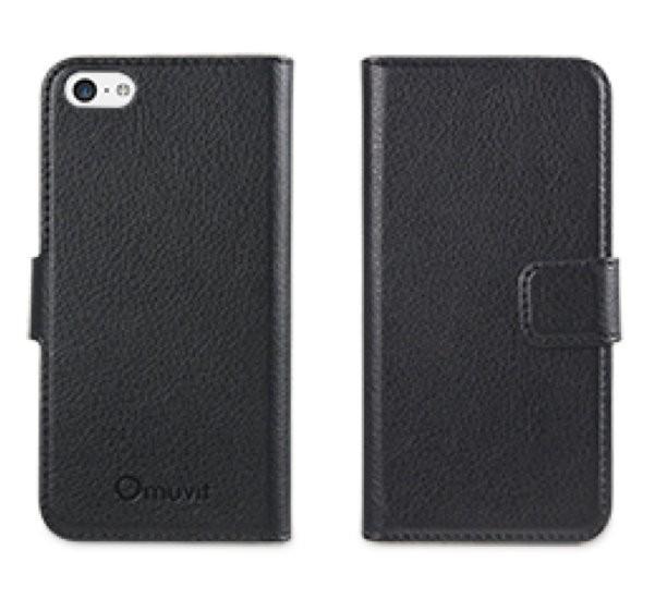 Muvit Slim Folio Case iPhone 5(S)/SE schwarz