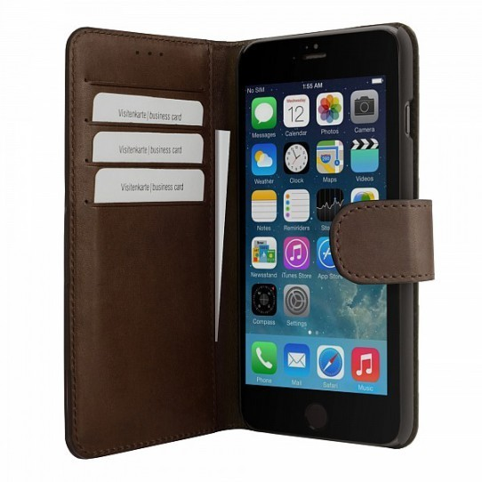 Bugatti Book Case Milano Leder Wallet-Case iPhone 6(S)