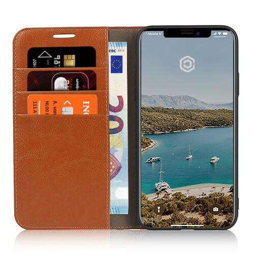 Casecentive Lederhülle Wallet Luxe iPhone 11 Pro Max beige