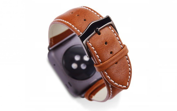 Dbramante1928 Kopenhagen Apple Watch Strap 42mm grau/braun