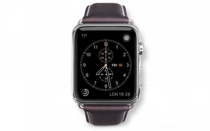 Dbramante1928 Kopenhagen Apple Watch Strap 38mm grau/hunter