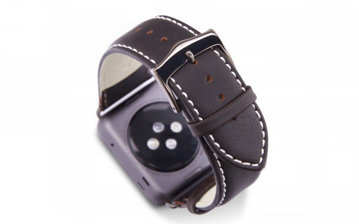 Dbramante1928 Kopenhagen Apple Watch Strap 42mm grau/hunter