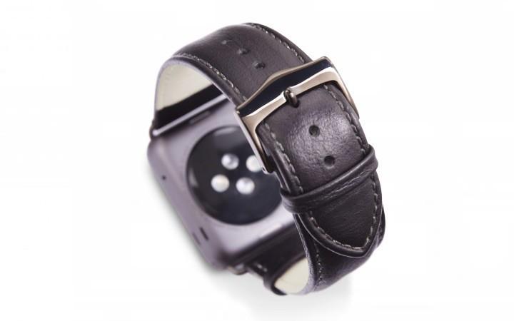 Dbramante1928 Kopenhagen Apple Watch Strap 42 mm grau/schwarz