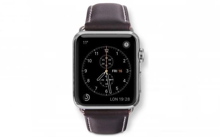 Dbramante1928 Kopenhagen Apple Watch Strap 38mm silber/hunt