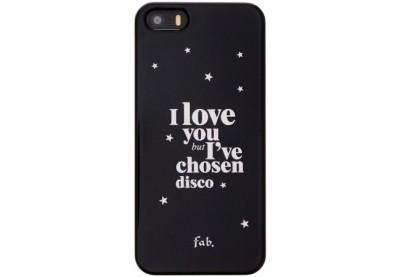 Fab Disco Glitter Hard Case iPhone 5(S)/SE schwarz