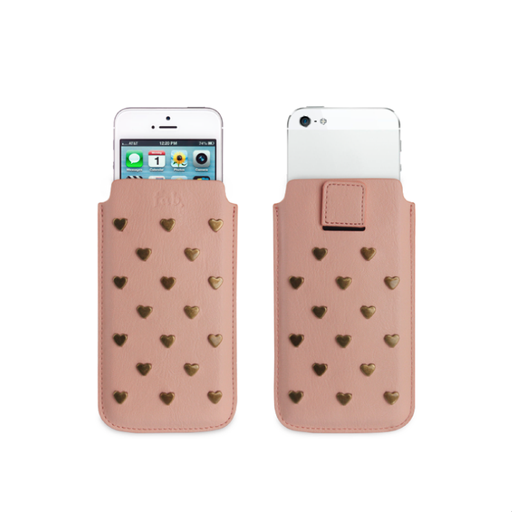 Fab Studs Pouch Case M iPhone 5(S) rosa